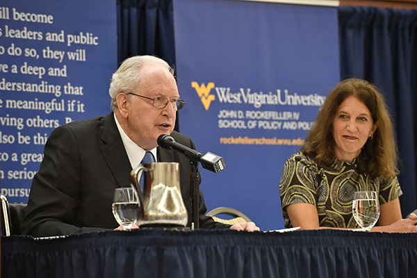Sylvia Mathews Burwell, Former U.S. Department of Health and Human Services Secretary and American University President and Former U.S. Senator Jay Rockefeller