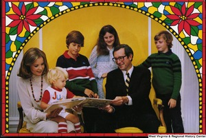 "[""The 1981 Rockefeller family holiday card reads, \""Merry Christmas.\"" Pictured are Jay, Sharon, Valerie, Jamie (John), Justin, and Charles Rockefeller.""]%"