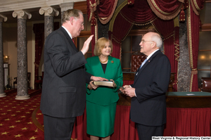 "[""Senator John D. (Jay) Rockefeller takes the oath of office for his last term.""]%"