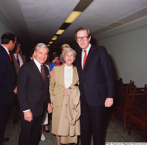 "[""Senator John D. (Jay) Rockefeller poses with unidentified supporters after his Senate Swearing-In Ceremony.""]%"