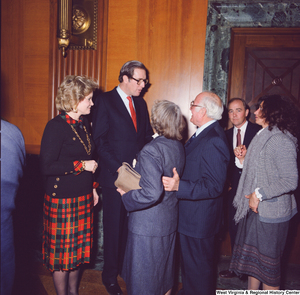 "[""Senator John D. (Jay) Rockefeller and his wife Sharon greet unidentified supporters following the Senate Swearing-In Ceremony.""]%"