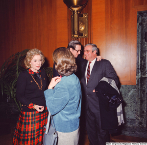 "[""Senator John D. (Jay) Rockefeller and Sharon Rockefeller greet supporters at the Senate Swearing-In Ceremony.""]%"