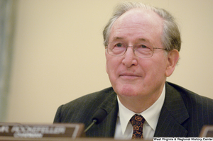 "[""Senator John D. (Jay) Rockefeller chairs a Senate Commerce Committee hearing.""]%"