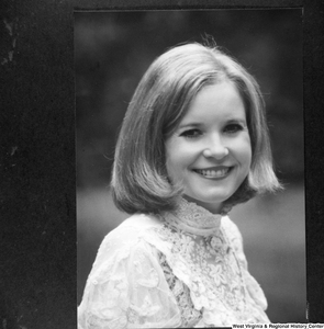 "[""This image is a photograph taken of a photograph of Sharon Rockefeller.""]%"