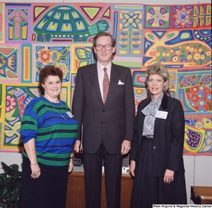 "[""Senator John D. (Jay) Rockefeller stands between two participants of the Presidential Classroom for Young Americans.""]%"