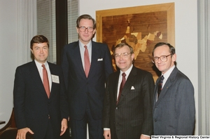 "[""Senator John D. (Jay) Rockefeller meets with three representatives from West Virginia Wesleyan College.""]%"