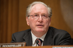 "[""Senator John D. (Jay) Rockefeller sits at a Finance Committee hearing.""]%"