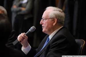 "[""Senator John D. (Jay) Rockefeller speaks at a Welcome to Washington luncheon.""]%"