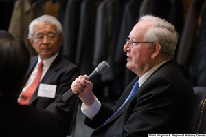 "[""Senator John D. (Jay) Rockefeller speaks at a Washington luncheon.""]%"