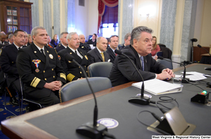 "[""Representative Peter King testifies at a Senate Commerce Committee hearing titled \""Safeguarding Our Future: Building a Nationwide Network for First Responders.\""""]%"
