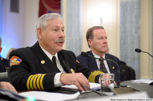 "[""North Las Vegas Fire Chief Al Gillespie testifies at a Commerce Committee hearing titled \""Safeguarding Our Future: Building a Nationwide Network for First Responders.\""""]%"