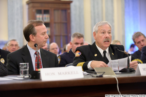 "[""Delaware Governor Jack Markell and North Las Vegas Fire Chief Al Gillespie testify at a Commerce Committee hearing titled \""Safeguarding Our Future: Building a Nationwide Network for First Responders.\""""]%"