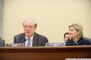 "[""Senators John D. (Jay) Rockefeller and Kay Hutchison sit at a Commerce Committee hearing titled \""Safeguarding Our Future: Building a Nationwide Network for First Responders.\""""]%"