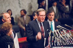 "[""Senator John D. (Jay) Rockefeller speaks at a Pepper Commission press event.""]%"