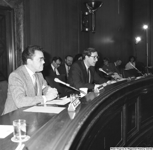 "[""Senator John D. (Jay) Rockefeller speaks at a committee hearing at the Senate.""]%"