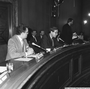 "[""Senator John D. (Jay) Rockefeller speaks at a hearing in the Senate.""]%"