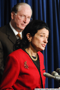 "[""Senator Olympia Snowe speaks at a Senate press event.""]%"