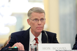 "[""Inspector General of the Department of Transportation, Calvin Scovel, testifies before a Senate Commerce Committee hearing.""]%"