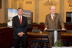 "[""Senator John D. (Jay) Rockefeller speaks at a West Virginia Wednesday event in the Senate.""]%"