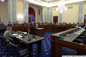 "[""One man testifies before the Senate Commerce Committee hearing.""]%"