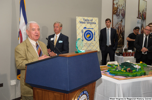 "[""Representative Nick Rahall speaks at the 150th birthday celebration for West Virginia.""]%"