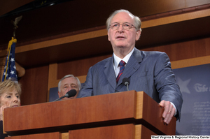 "[""Senator John D. (Jay) Rockefeller speaks at a Commerce Committee event.""]%"