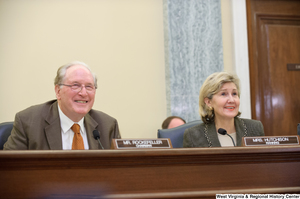 "[""Senators John D. (Jay) Rockefeller and Kay Hutchison sit at a September 2012 Commerce Committee hearing.""]%"