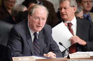 "[""Senator John D. (Jay) Rockefeller speaks at a Finance Committee hearing.""]%"