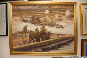 "[""A painting hangs on a wall in Senator John D. (Jay) Rockefeller's office.""]%"