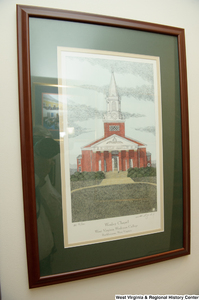 "[""A framed drawing of Wesley Chapel hangs on a wall in Senator John D. (Jay) Rockefeller's office.""]%"