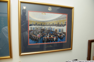 "[""A photograph of the 109th Congress hangs on a wall in Senator John D. (Jay) Rockefeller's orrice.""]%"