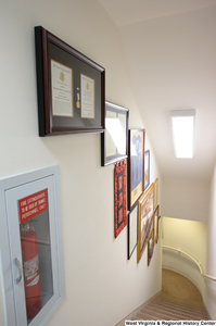 "[""This photo shows the stairwell in Senator John D. (Jay) Rockefeller's office.""]%"