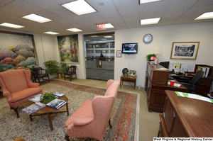 "[""This photo shows the front reception space in Senator John D. (Jay) Rockefeller's office.""]%"
