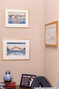 "[""Three pieces of art hang in Senator Rockefeller's office.""]%"