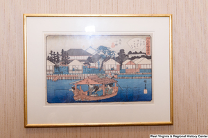 "[""A Japanese watercolor painting hangs on a wall in Senator John D. (Jay) Rockefeller's personal office.""]%"