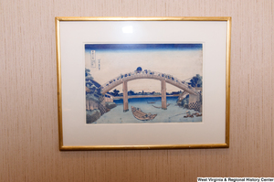 "[""A painting of a bridge hangs in Senator John D. (Jay) Rockefeller's office.""]%"