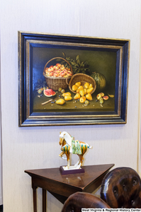 "[""A still life painting hangs on a wall in Senator John D. (Jay) Rockefeller's office.""]%"