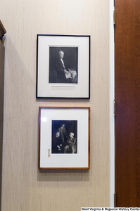 "[""Two photographs of Senator John D. (Jay) Rockefeller's older male relatives hang on the wall in his office.""]%"