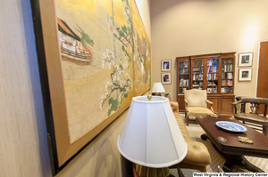 "[""This photograph shows the side wall in Senator John D. (Jay) Rockefeller's personal office.""]%"