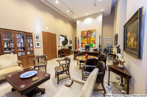 "[""From one corner, this photo shows Senator Rockefeller's personal office.""]%"