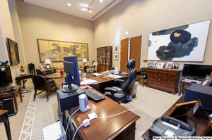 "[""This photo shows Senator Rockefeller's personal office from behind his desk.""]%"