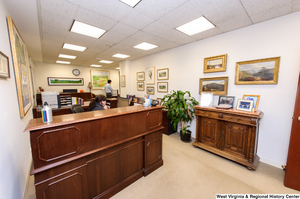 "[""This photo shows the area outside Senator Rockefeller's personal office.""]%"