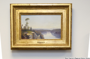 "[""A painting of a waterfall hangs in Senator Rockefeller's office.""]%"