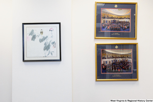 "[""A painting and two photographs hang in Senator John D. (Jay) Rockefeller's office.""]%"