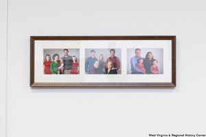 "[""Three Rockefeller family photographs hang on a wall in Senator John D. (Jay) Rockefeller's office.""]%"