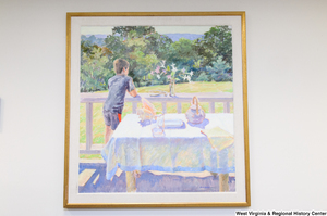 "[""A painting of a young boy standing outside on a porch hangs in Senator John D. (Jay) Rockefeller's office.""]%"