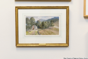 "[""A painting of a farmhouse hangs in Senator John D. (Jay) Rockefeller's office.""]%"