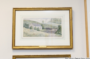 "[""A painting of a farmhouse hangs on a wall in Senator John D. (Jay) Rockefeller's office.""]%"