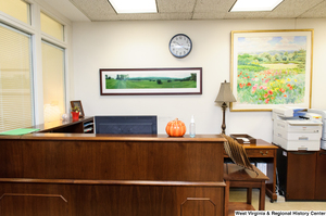 "[""Photo of a corner office in Senator John D. (Jay) Rockefeller's office.""]%"