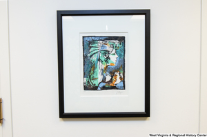 "[""An abstract portrait painting of a woman hangs in Senator John D. (Jay) Rockefeller's office.""]%"